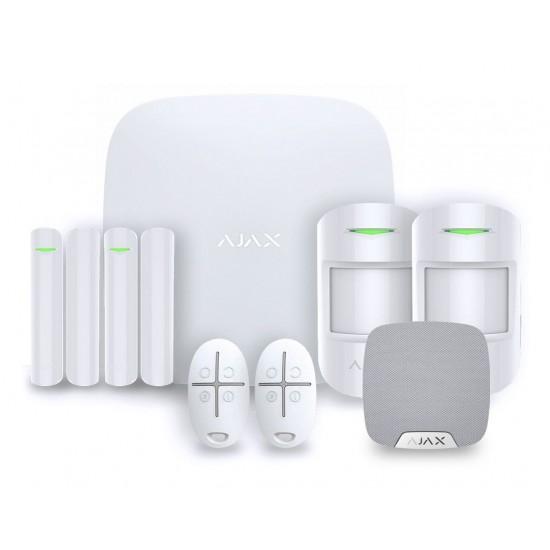 Ajax AJ-HUBKIT-W - Kit de alarme profissional, Certificado Grau 2
