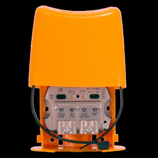 Amplificador Mastro NanoKom 3e/1s EasyF BIII/UHF[dc]/FMmix/FImix[dc] 12 ... 24V LTE700 Televes