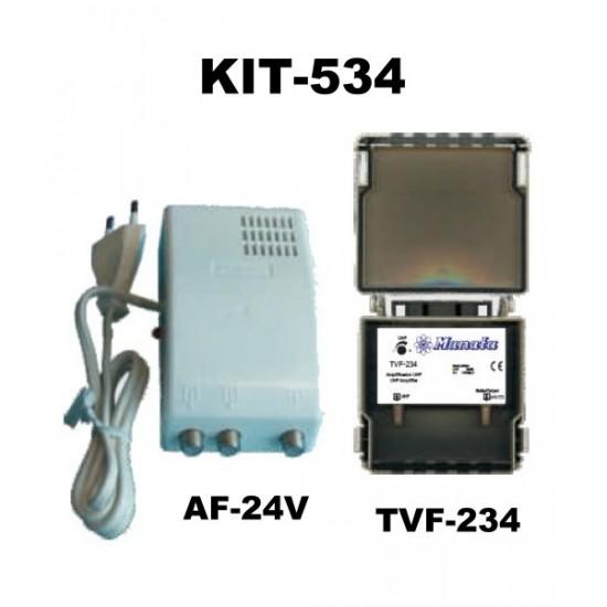 KIT de amplificação 1 antena TDT UHF MANATA KIT-534
