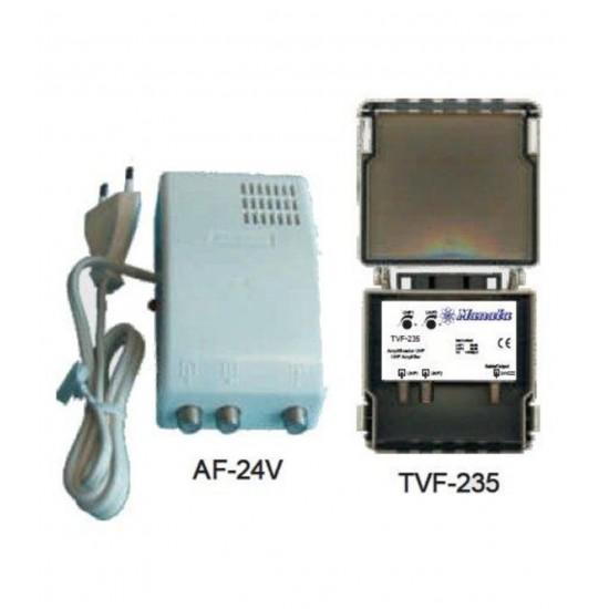 KIT-535 - Kit Manata Amplificador Mastro 2uhf+1vhf + Alimentador